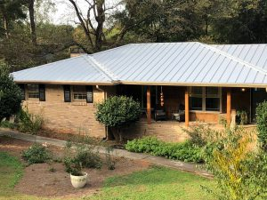 Picture of house with metal roof