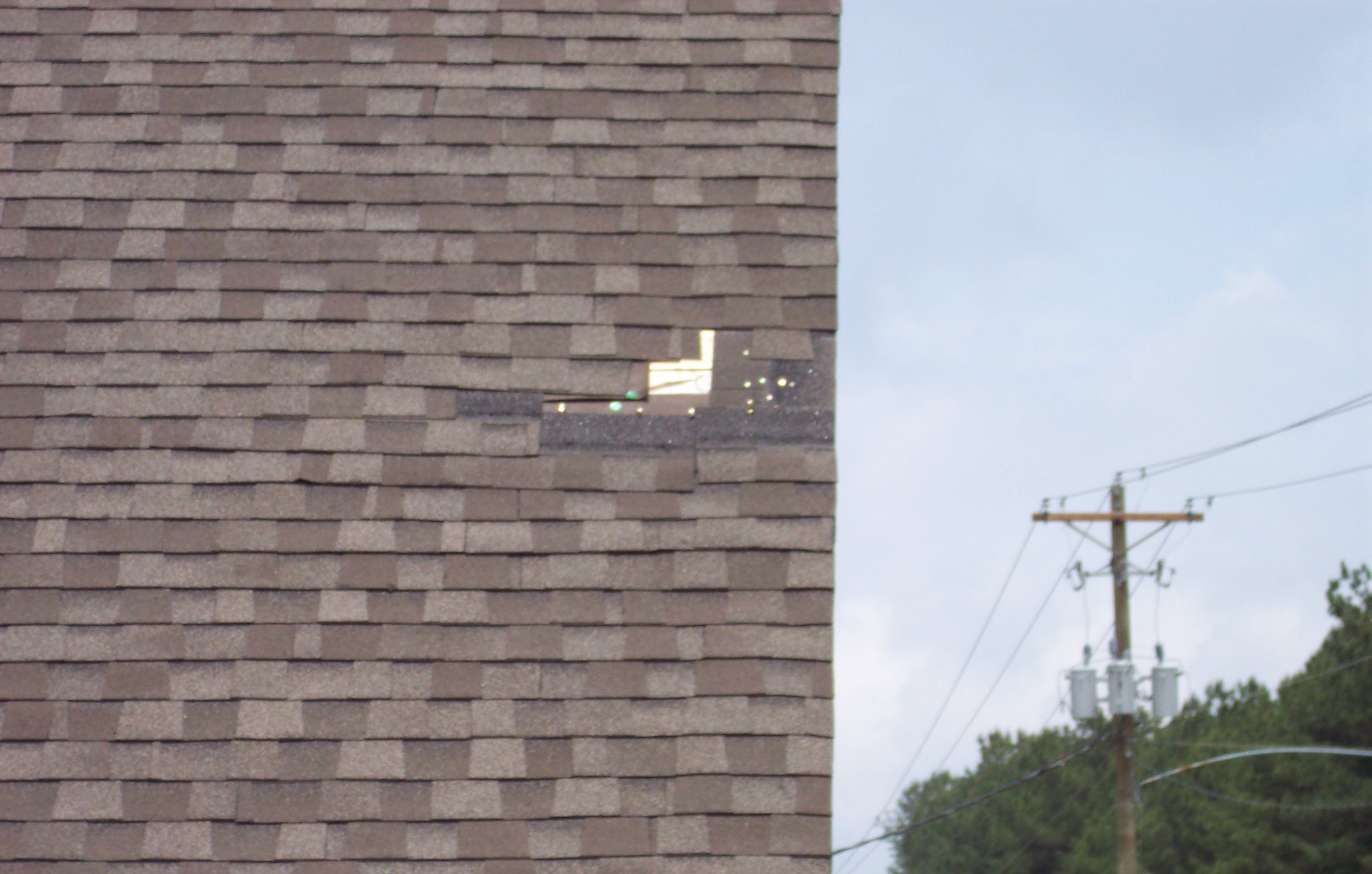 Air Gunned Shingles Falling Off Of Roof